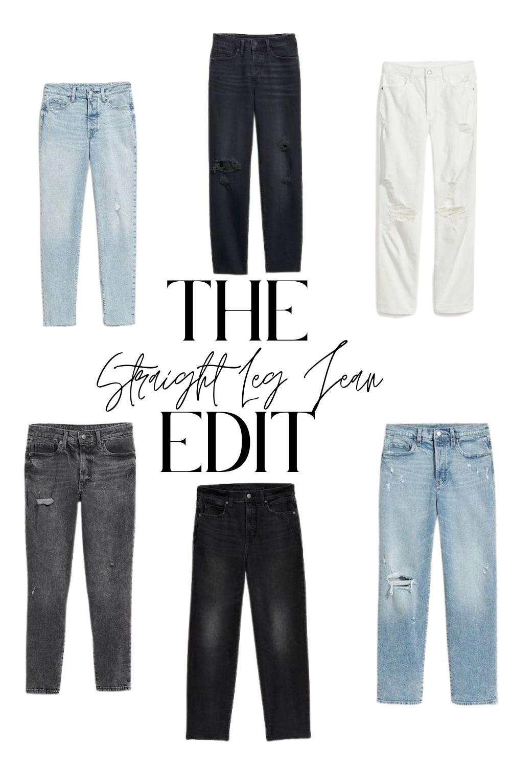 What to Shop: Straight Leg Jeans